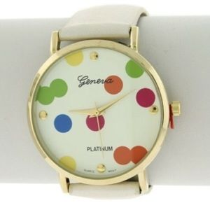 Accessories - Ivory Colorful Confetti Watch